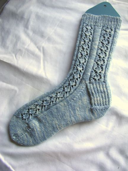 King Charles Lacy Brocade Socks